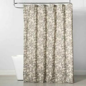 Project 62 Cream / Gray Floral Shower Curtain